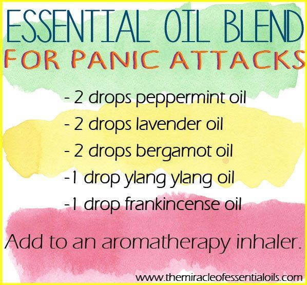 Calm yourself naturally using one or more of these essential oils for panic attacks