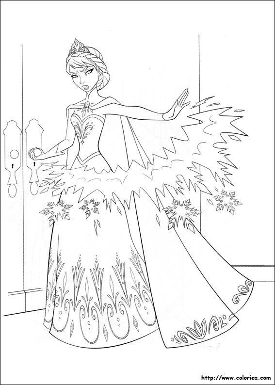 reine des neiges | Coloriage de la reine des neiges en couleur