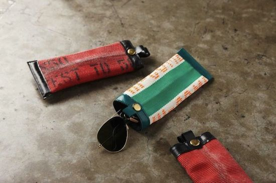 Upcycled fire hose Ideas. This site has many great ideas! http://www.upcyclethat.com/