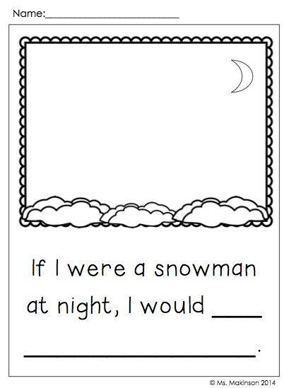Snowmen at Night reading response