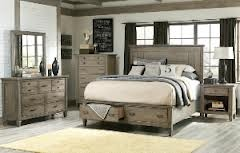 The Brownstone Village Collection Bedroom Set, available at Home Furniture.