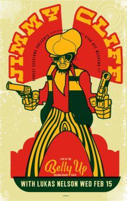 barefootmarley: jimmy cliff gig poster