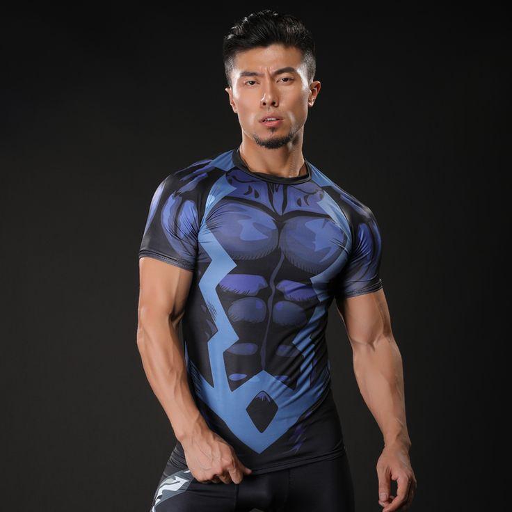 2017 Brand Men Marvel Punisher T Shirt Superhero Short Sleeve T Shirts Fitness Superman 3D Shirts. Click visit to buy #T-Shirts