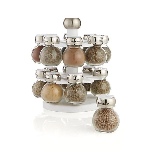 Revolving Spice Rack with 16 Jars | Crate and Barrel