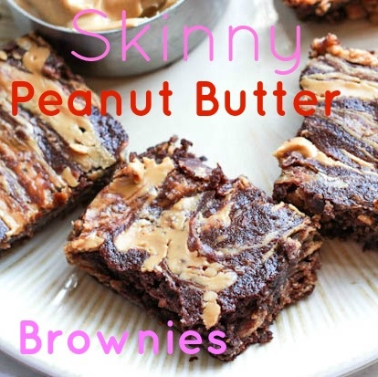 skinny peanut butter swirl brownies., here is the actual link and recipe after clicking 5 different things to get to it.