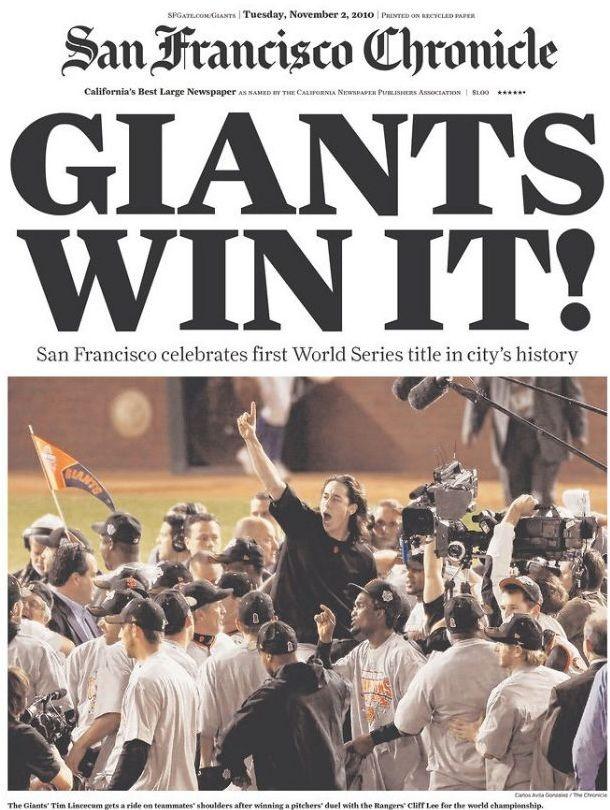 San Francisco Giants win the World Series!!!