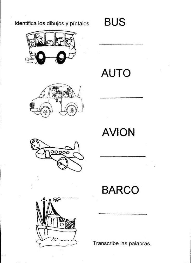 medios de transporte preescolar - Buscar con Google