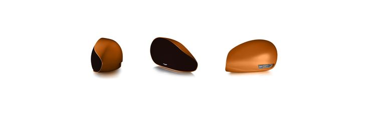 Aston Martin Zygote - a luxurious wireless audio system for your home. Packed with the latest technology, enclosed in a beautiful sculpted case. Here is the Zygote in Madagascar Orange