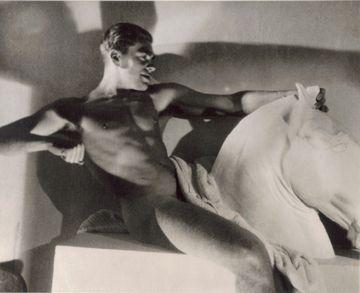 Horst on Mantle, Paris, 1932 by George Hoyningen-Huene