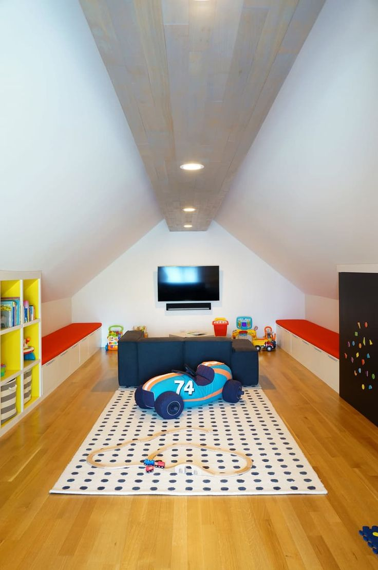 the playroom in this newly renovated chicago home is spacious and full of tons of fun attic playroomchildren playroomthe playroomkids roomsbench