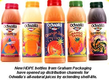 HDPE Bottle Adds Shelf-Life to Odwalla Juices | Packaging ...