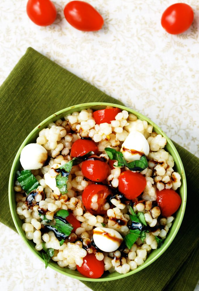 Caprese Couscous - An easy summer pasta salad using #WalmartProduce via The Live-In Kitchen