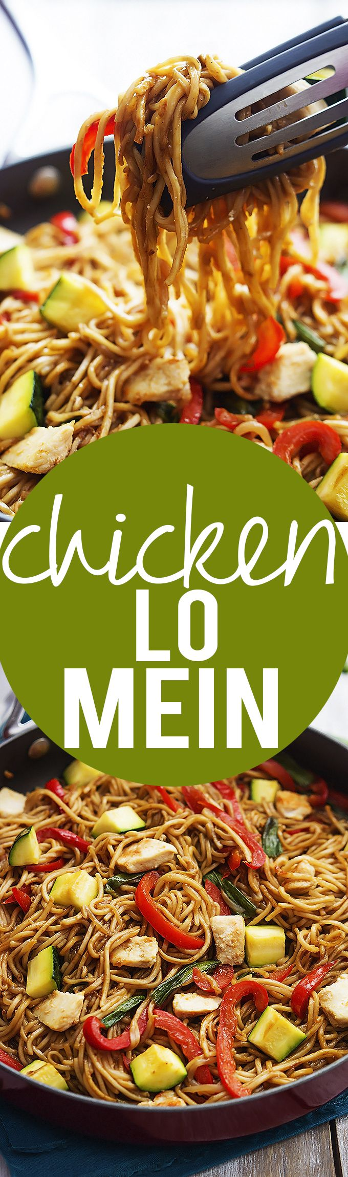 Chicken Lo Mein // only takes 30 minutes, easy to prepare and super yummy #energy