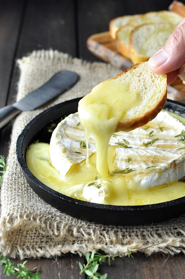 Baked Brie - seconds to prepare, 15 minutes to bake, it's like the best cheese dip you will ever have. No need to use an expensive brie / camembert!