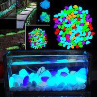 10 Шт. Светиться в Темноте Галька Искусственный Камень Проход Аквариум Fish Tank Декор