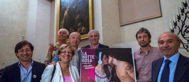 Tra gli altri, Liviana Zanetti, Andrea Gnassi, Maurizio Melucci  con la Passione de La Notte Rosa 2014