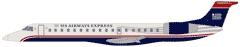 Express: Embraer ERJ 145  Capacity: 50 seats   Lavatories: 1