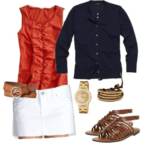 this is the perfect dressy/casual summer outfit (you can tell the people who put these outfits together aren't from Texas - they all involve sweaters! But I do appreciate that because my office is always freezine))