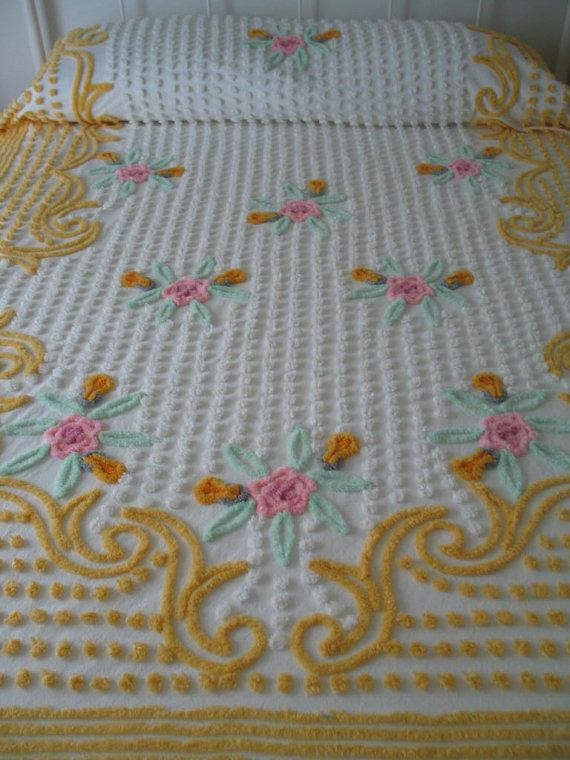 140 Best Chenille Bedspreads Images On Pinterest
