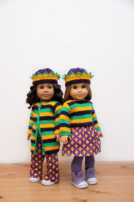Mardi Gras outfits for American Girl by StassyDodge on Etsy