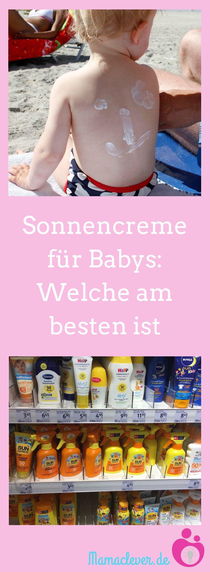 Die richtige Sonnencreme für Babys unter einem Jahr