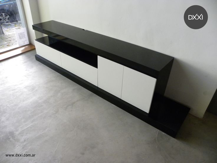 33 best muebles para tv images on pinterest contemporary for Mueble tv negro