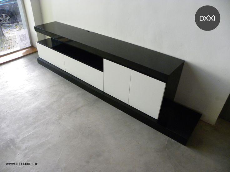 mueble para tv modelo florida cajones con guias y puertas con estantes