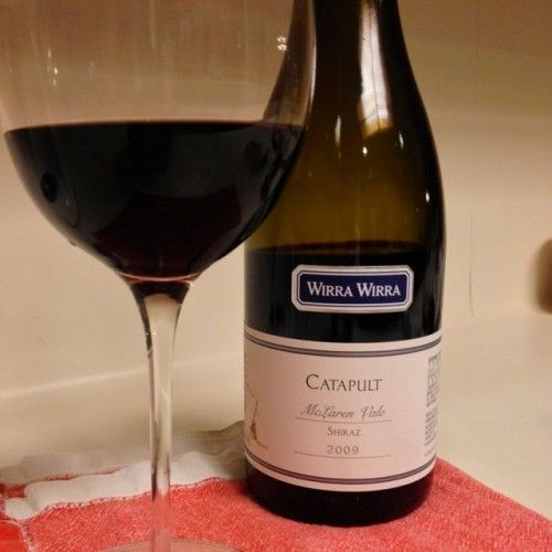 2009 Wirra Wirra Catapult Shiraz from Australia's McLaren Vale - Great wine find at about $15/bottle