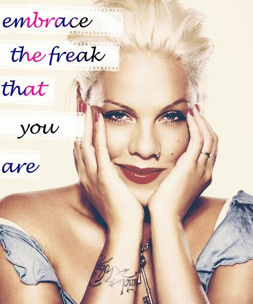 P!NK. ,... I wish I could let it all come out!!