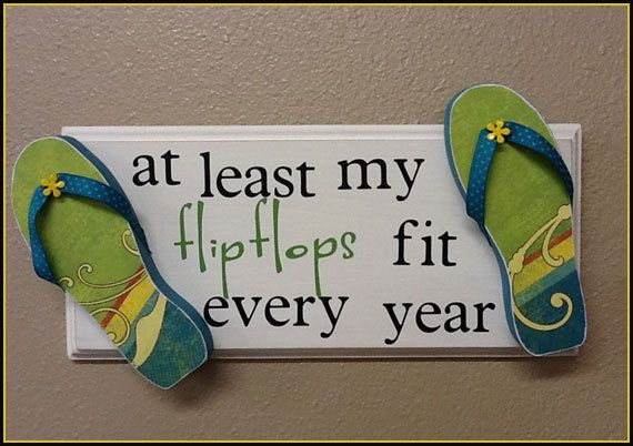 At least my FLIP FLOPS fit every year Summer Wood Sign by JWDecor, $18.95