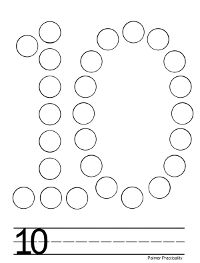 More free do a dot printables! Here are numbers 1-10.  (To save or print, click on the number you want, it will take you to the pdf tha...
