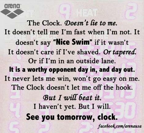 clock qoutes with pics from swim | The clock | Swim quotes