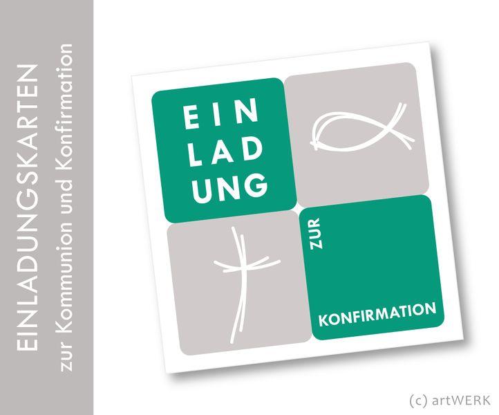 Extra Große Einladungskarte Zur Kommunion, Konfirmation, Firmung Oder Einem  Anderen Anlass, Im Schicken
