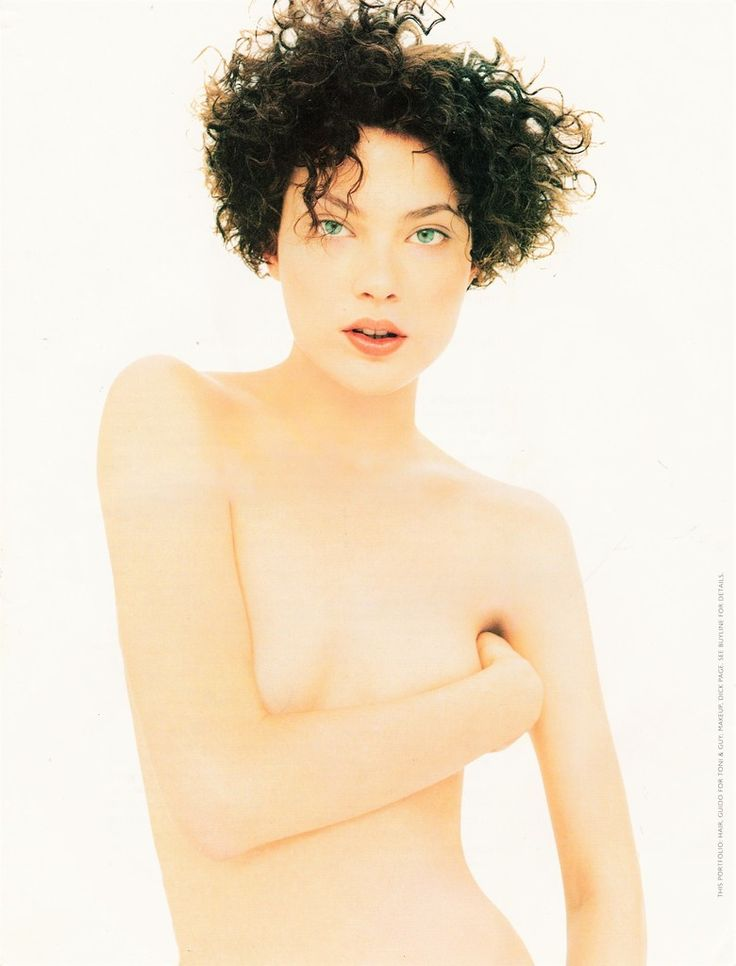 """Shalom Harlow in """"Headscapes"""" by David Sims for Harper's Bazaar US June 1994"""