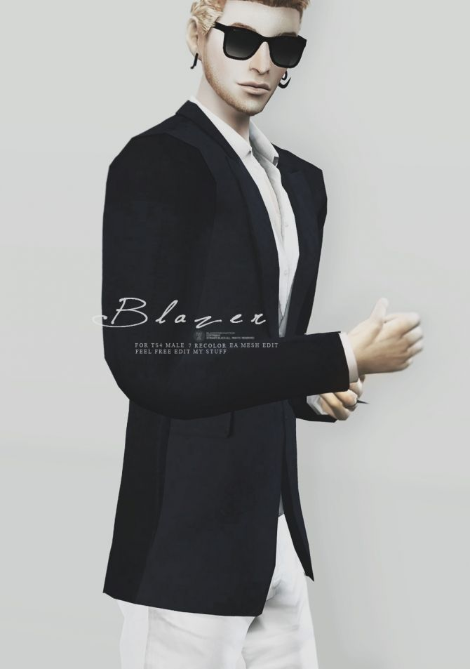 Blazer for males at Black-le via Sims 4 Updates Check more at http://sims4updates.net/clothing/blazer-for-males-at-black-le/
