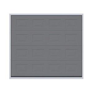 Porte sectionnelle à cassettes couleur graphite - www.emf17.fr