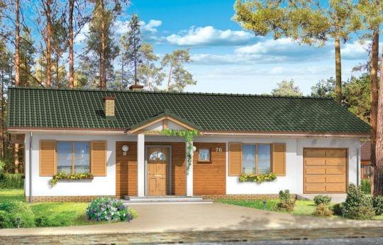Promyk to projekt domu jednorodzinnego dla 4-5 osób, mogący pełnić funkcję domu całorocznego jak i domku letniskowego. Pracownia dysponuje projektem w wersji murowanej oraz szkieletowej drewnianej. Dom jest bardzo prosty i funkcjonalny.