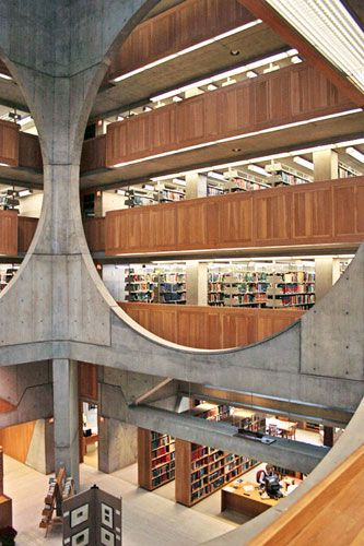 Library, Phillips Exeter Academy, Exeter, New Hampshire, Louis Kahn, 1971. (so proud, representin' my home state)