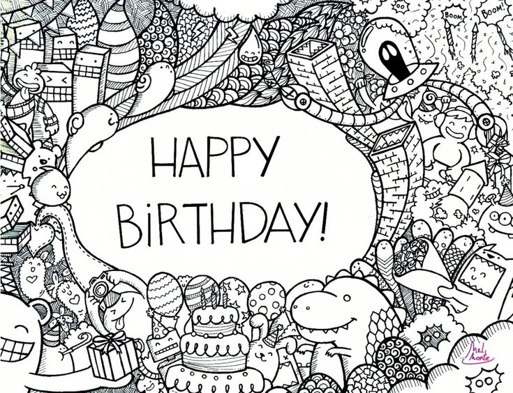75 best Happy Birthday images – Doodle Birthday Card