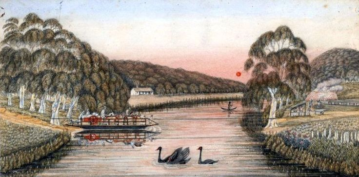 [The First Punt Across the Yarra River]