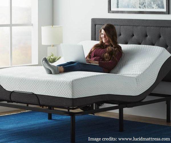 Lucid L100 Adjustable Bed Adjustable Beds Adjustable Bed Frame Bed Design