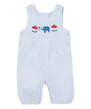 Look what I found on #zulily! Blue & White Stripe Overalls - Infant #zulilyfinds