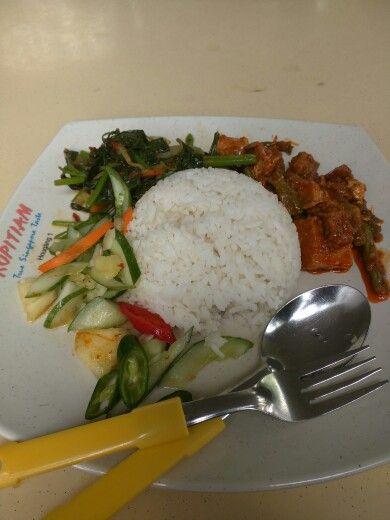 Vegetable rice (tofu/kankung/salad)