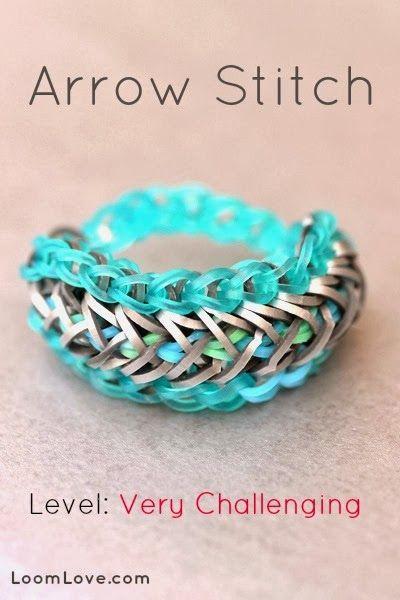 Arrow Stitch Loom Bracelet tutorial by Loom Love