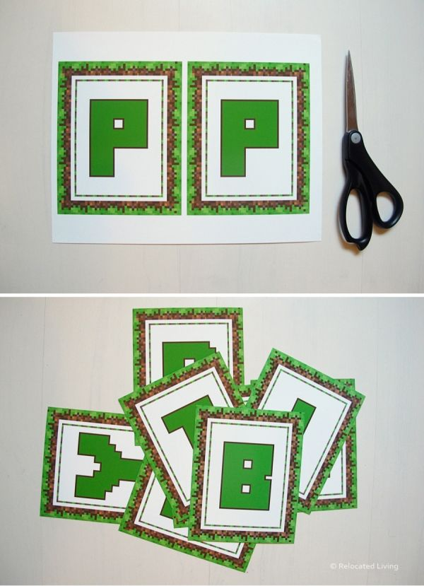 It's just a photo of Epic Free Printable Chevron Banner Minecraft