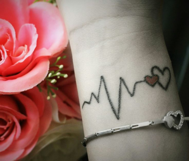#Tattoo #Love #him #Heart #lifeline #tattoolove #Wristtattoo