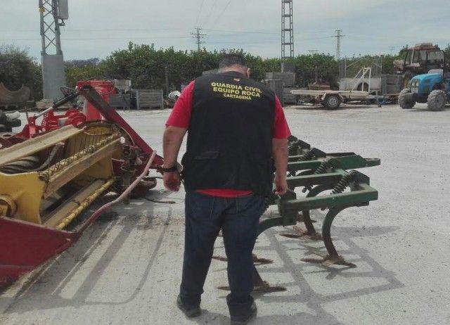 Un detenido por la sustracción de herramientas agrícolas valoradas en cerca de 50.000 euros