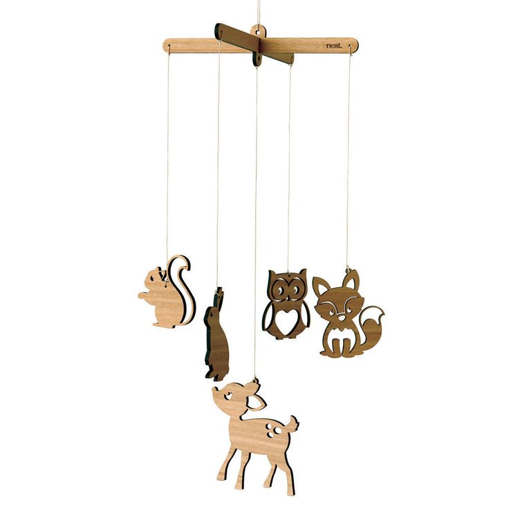 In the Woods Wooden Mobile | Woodlands Laser cut Nursery & Kids Decor by NestAccessories on Etsy https://www.etsy.com/listing/186880716/in-the-woods-wooden-mobile-woodlands