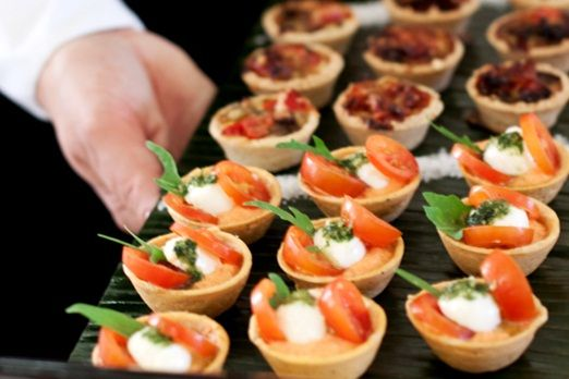Free organic honey roast ham when you book your wedding for Canape food ideas