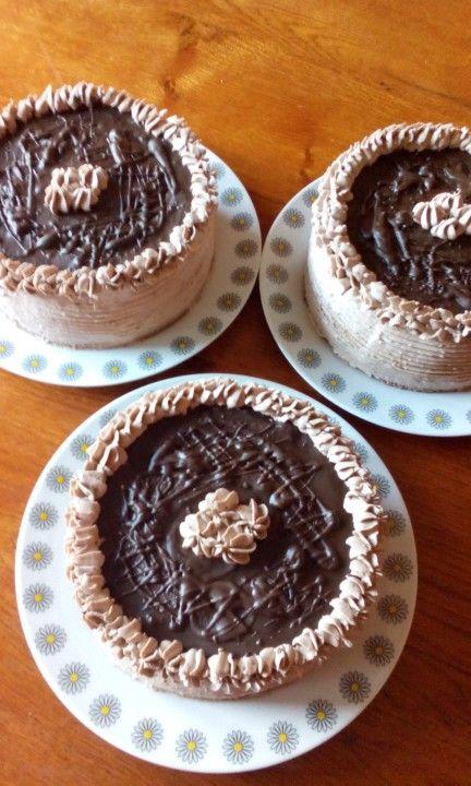 Trio csoki torta